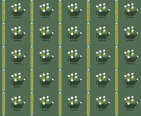 vintages: vector flat flower vintages eamless  patterns Illustration