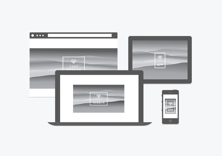 display size: website and app presentation  devices
