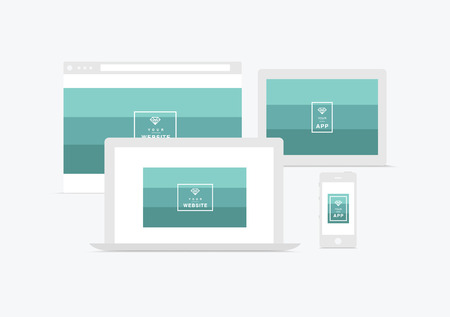 site web: website and app presentation  devices