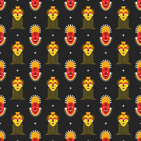 hair mask: African masks pattern