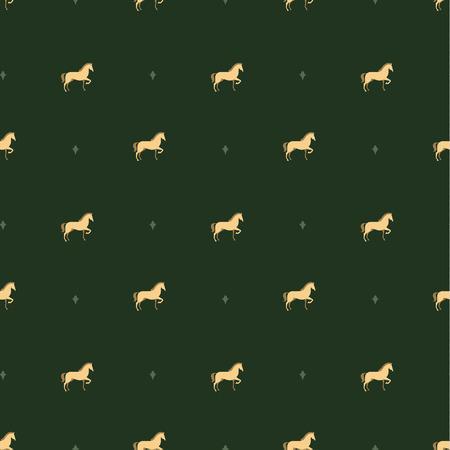 saddle: horse pattern