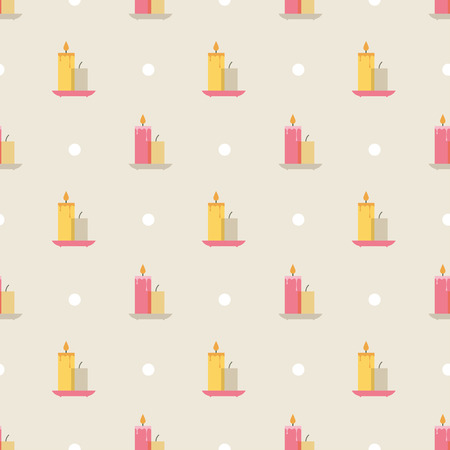 candles pattern Vector