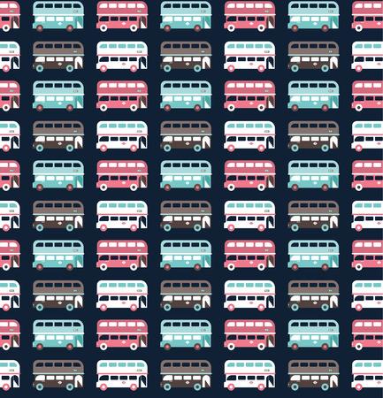 buses pattern Vettoriali