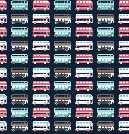 two storey: buses pattern Illustration