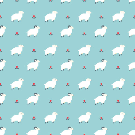 shepherd with sheep: sheep pattern