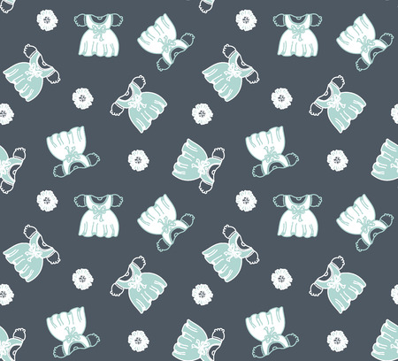 pocket size: childrens dresses pattern Illustration