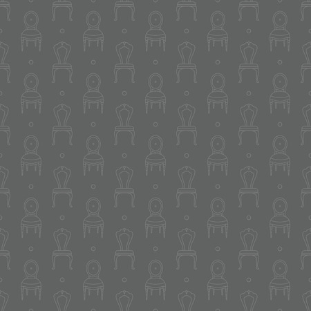 chairs pattern Vector