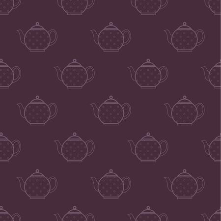 polka-dot teapot pattern Vector