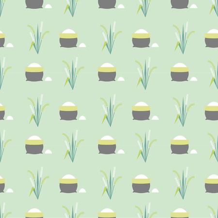 rice field: rice field pattern