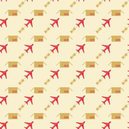 sending: plane and sending pattern Illustration