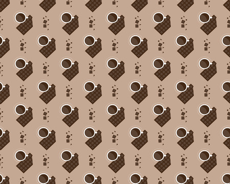 stuffing: cup of coffee and chocolate pattern Illustration