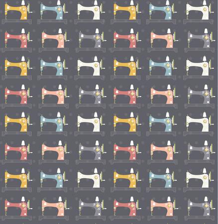sewing machines: sewing machines pattern Illustration