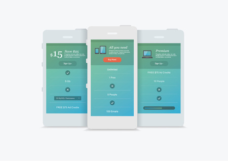website and app presentation  devices Vector