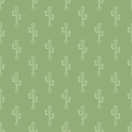 unpretentious: cactus in pot pattern