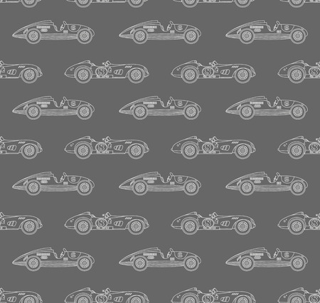 car pattern: retro racing car pattern