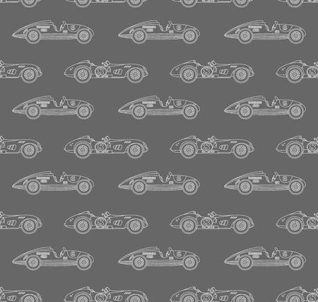 derby: retro racing car pattern