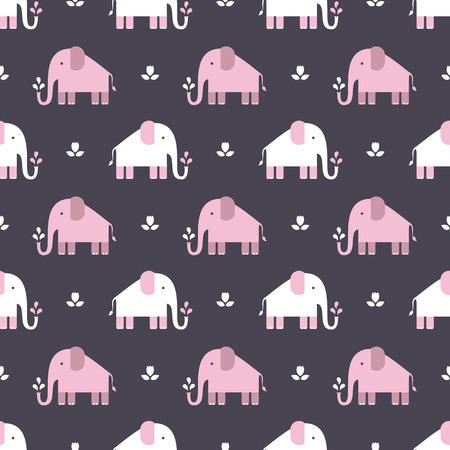 elephants pattern Illustration