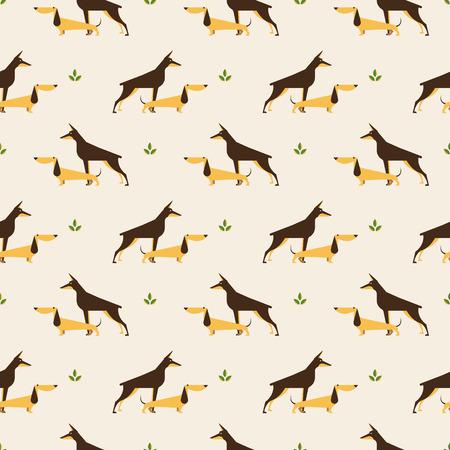 flair: dachshund and doberman dog pattern