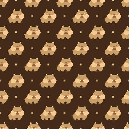 wścieklizna: Jednolite wzór z wektora tle buldoga psa