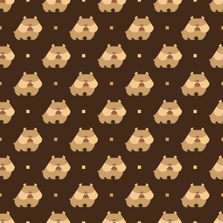flair: Seamless pattern with dog bulldog vector background