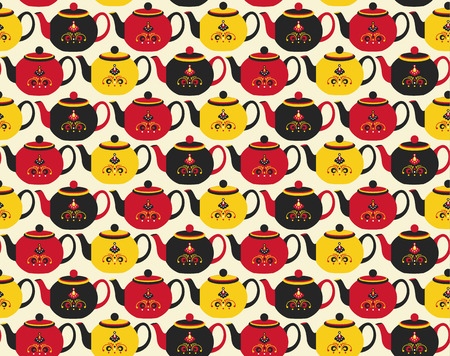 teapot pattern Vector