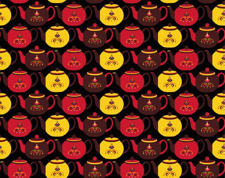 boiling water: teapot pattern