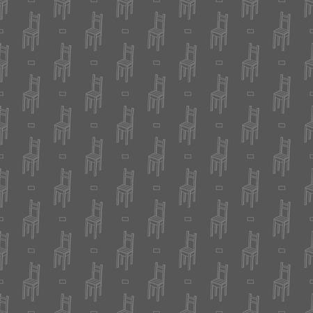 kitchen studio: chairs pattern Illustration