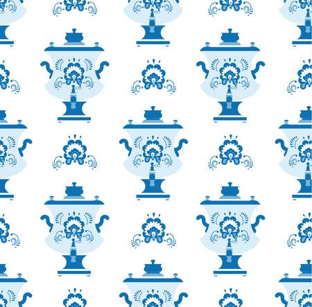 gzhel: gzhel samovar pattern Illustration