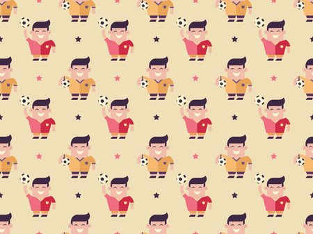 players and balls pattern Illustration