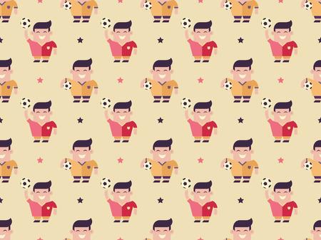 elasticity: players and balls pattern Illustration