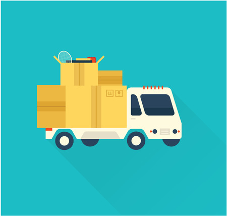 side menu: deliverty truck