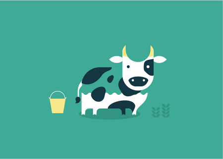 cow vector: vector cow icon