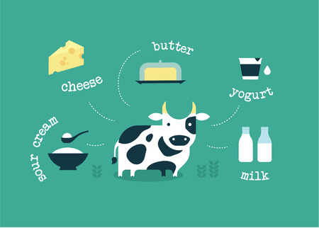vector icono de la leche