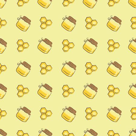 벌집과 꿀 항아리 패턴