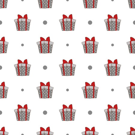 package sending: gift boxes pattern Illustration
