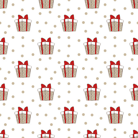 intrigue: gift boxes pattern Illustration