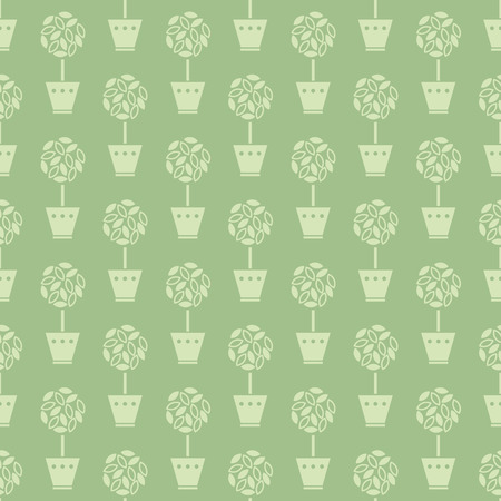 fertilizing: flower pots pattern Illustration