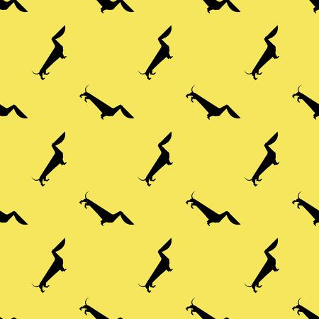 wścieklizna: Pies jamnik wzór Ilustracja
