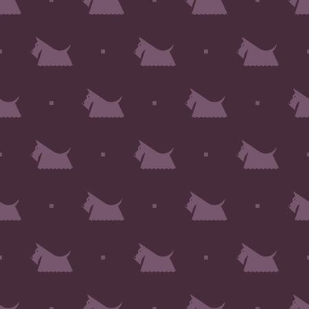 flair: dog Scottish terrier pattern