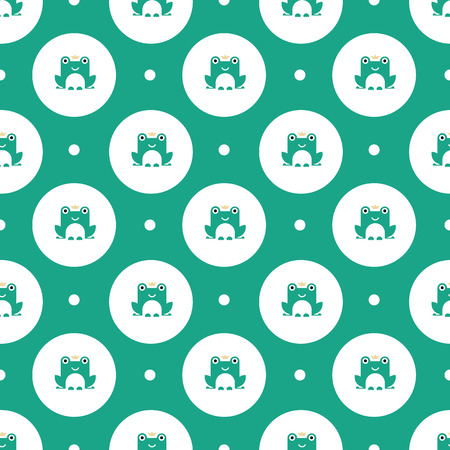 princess frog: frogs with crowns pattern