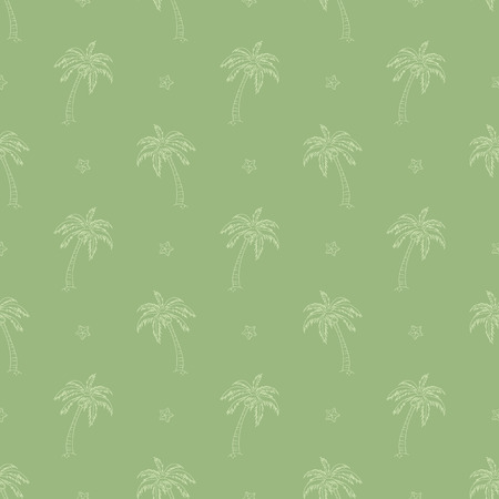 summer solstice: Seamless pattern with palm trees vector background