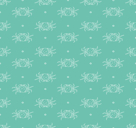arthropod: Seamless pattern with sea crabs vector background