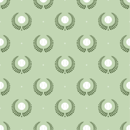 elasticity: Seamless pattern with tennis balls vector background