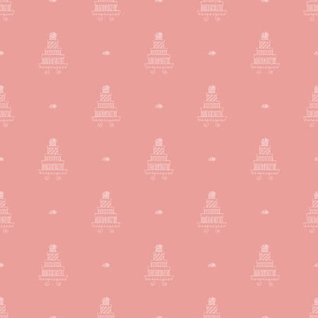 puff pastry: Seamless pattern with assorted cakes vector background Illustration