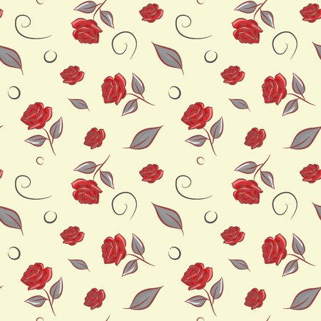 simple life: Seamless pattern with flower roses vector background