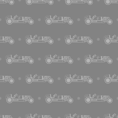 car pattern: retro car pattern Illustration