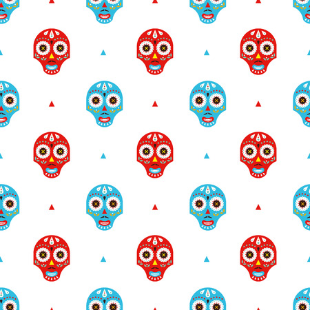 Mexican masks pattern Vector