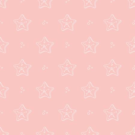 molluscs: starfish pattern Illustration