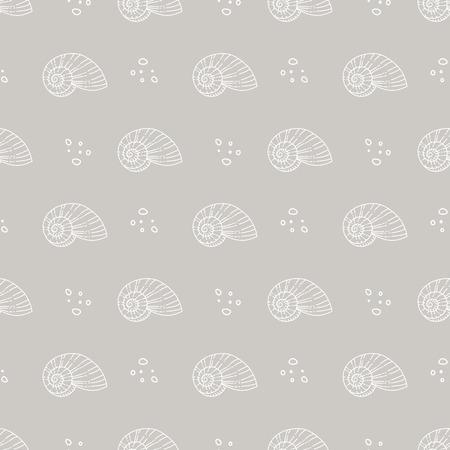 molluscs: sea shells pattern Illustration