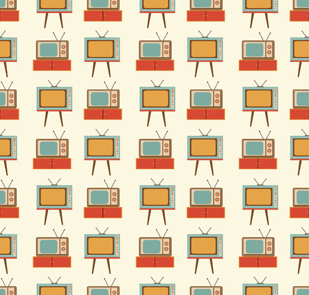rarity: old TVs pattern Illustration